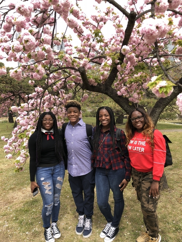 A lovely family from Las Vegas under cherry blossoms