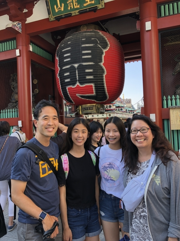 A lovely family from San Francisco in front of Thunder Gate