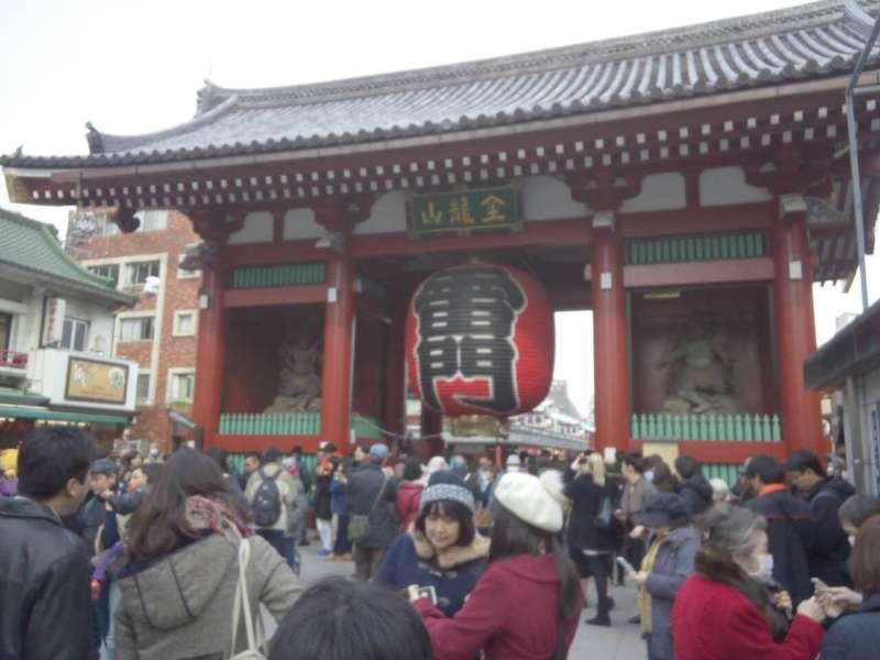 The most famous giant lantern:Kaminarimon,Asakusa