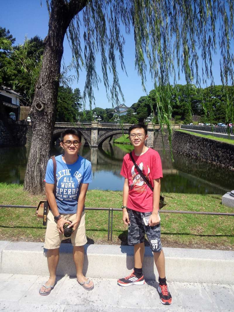 In  front of Dual Bridge of Imperial Palace.