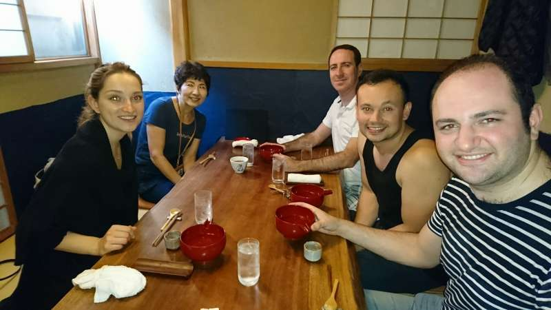 At an authentic Japanese cuisine restaurant in Ueno