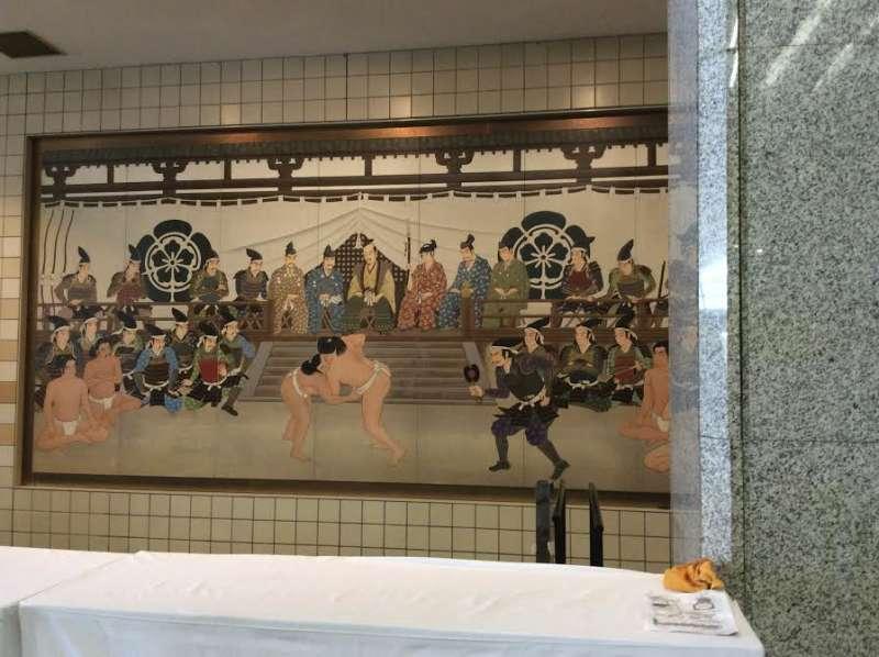 Artwork depicting sumo in history