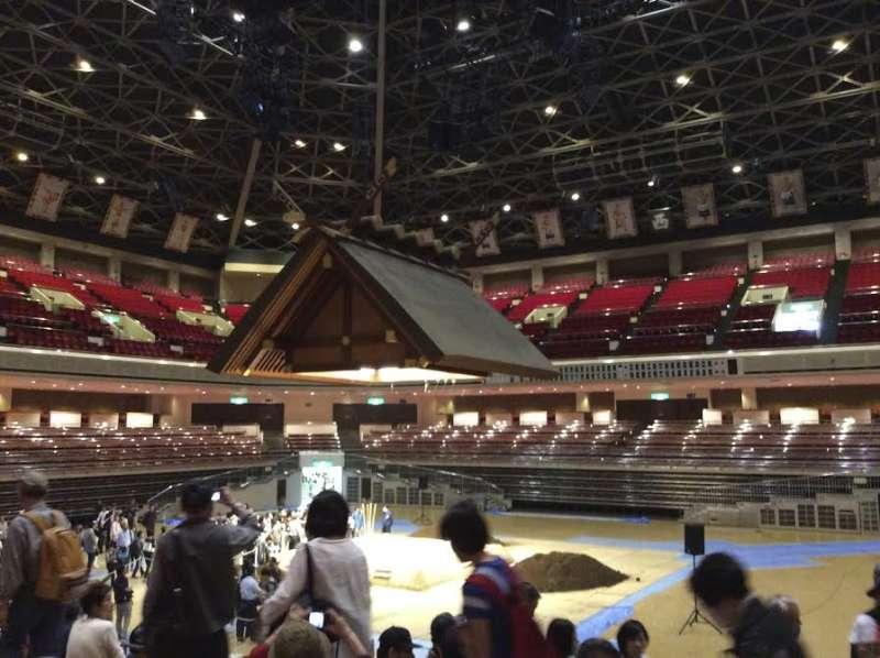 Inside Kokugikan, before the 2016 May Grand Sumo Tournament