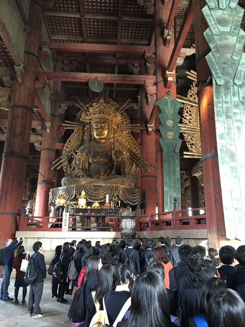 Buddhist statue beside the largest