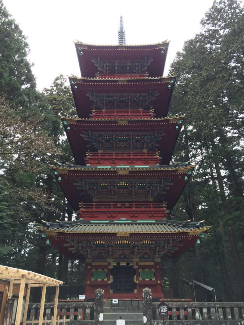 Five -story pagoda in Toshogu