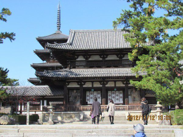 Chumon and Kairo at Horyu-ji Temple