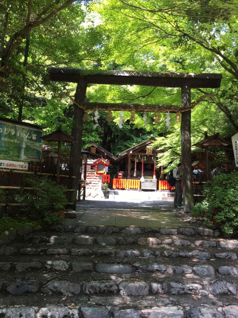 in front of Nonomiya Shrine