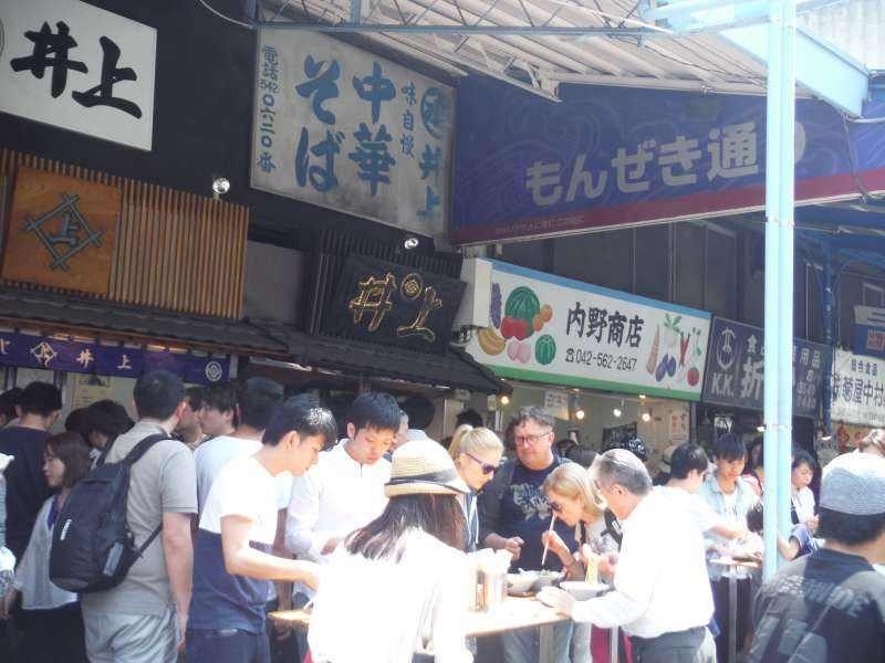 Tsukiji outer market (food stands)