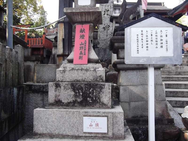 Top of Mt. Inari-yama hill.