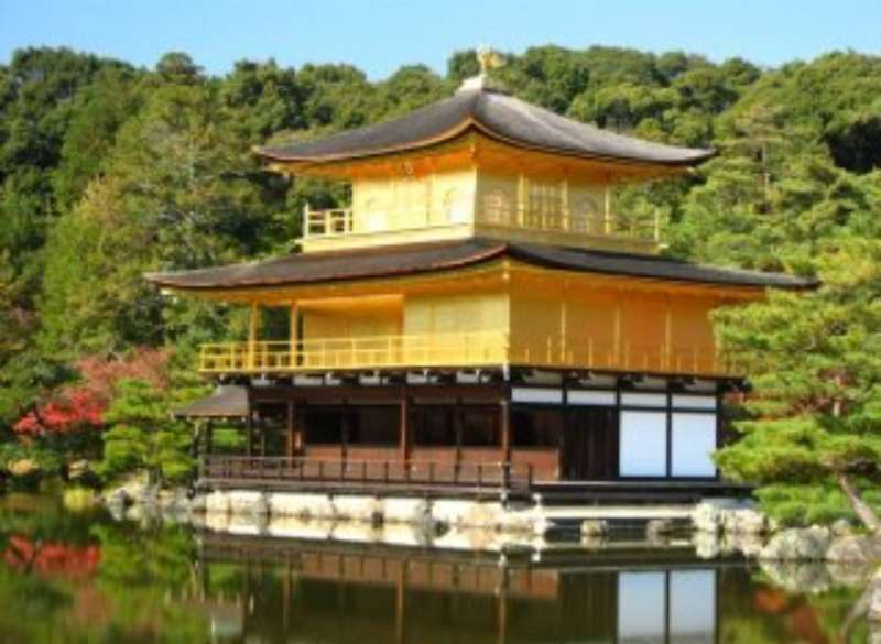 the Golden Pavilion at Kinkakuji Temple