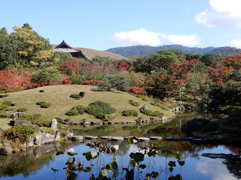 Isuien Garden, a strolling-style landscape garden.