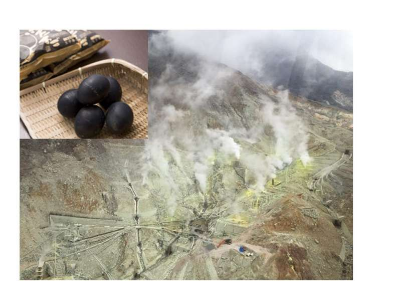 The volcanic activity at Owakudani and the black eggs (Closed since May 19th, 2019)