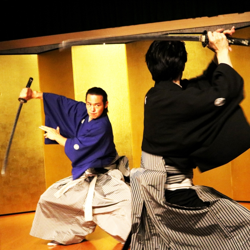 Samurai Kembu Performance in Kyoto   - Evening -