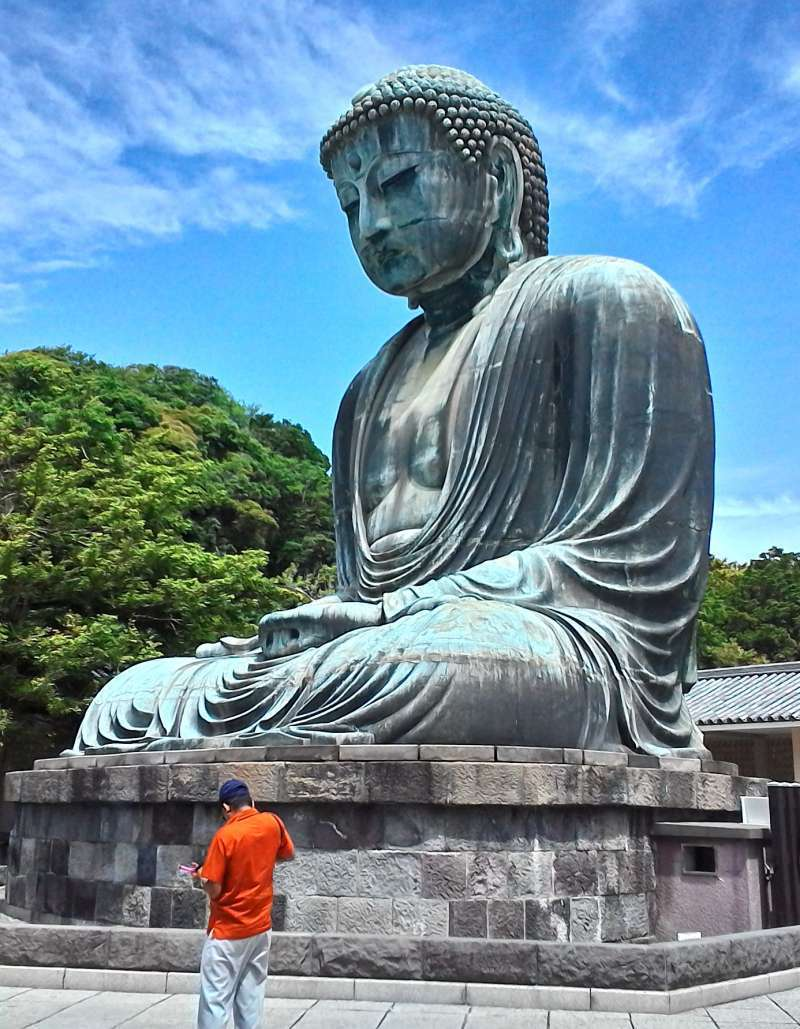 Daibutsu or Great Buddaha  in the open air