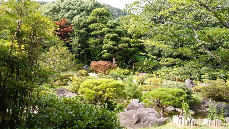 A traditional strolling style garden in Hayama Shiosai Park