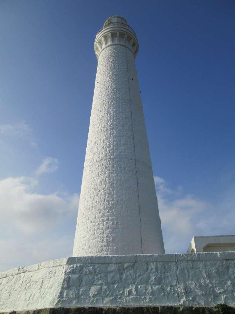 Hinomisaki Lighthouse 44 m tall above the sea