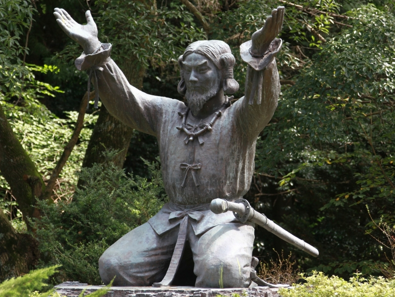 Izumo Grand Shrine: a statue of the main deity (god) of Izumo Grand Shrine