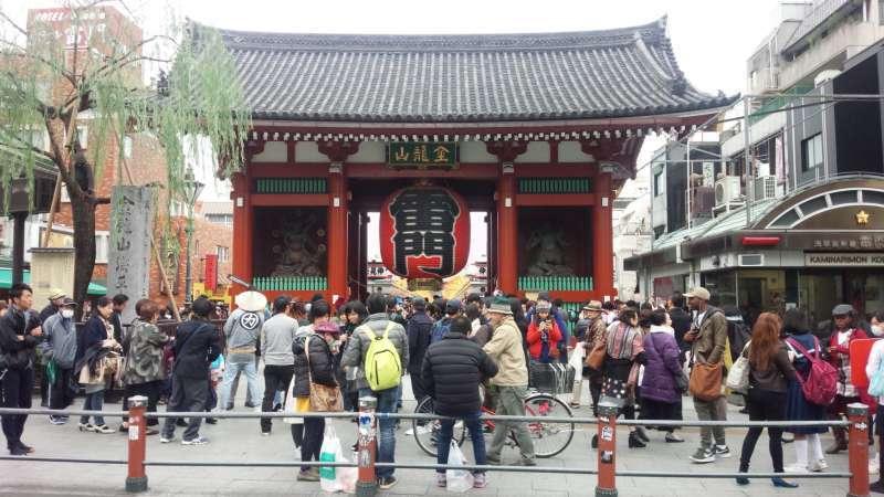Asakusa Kaminarimon Thunder Gate.
