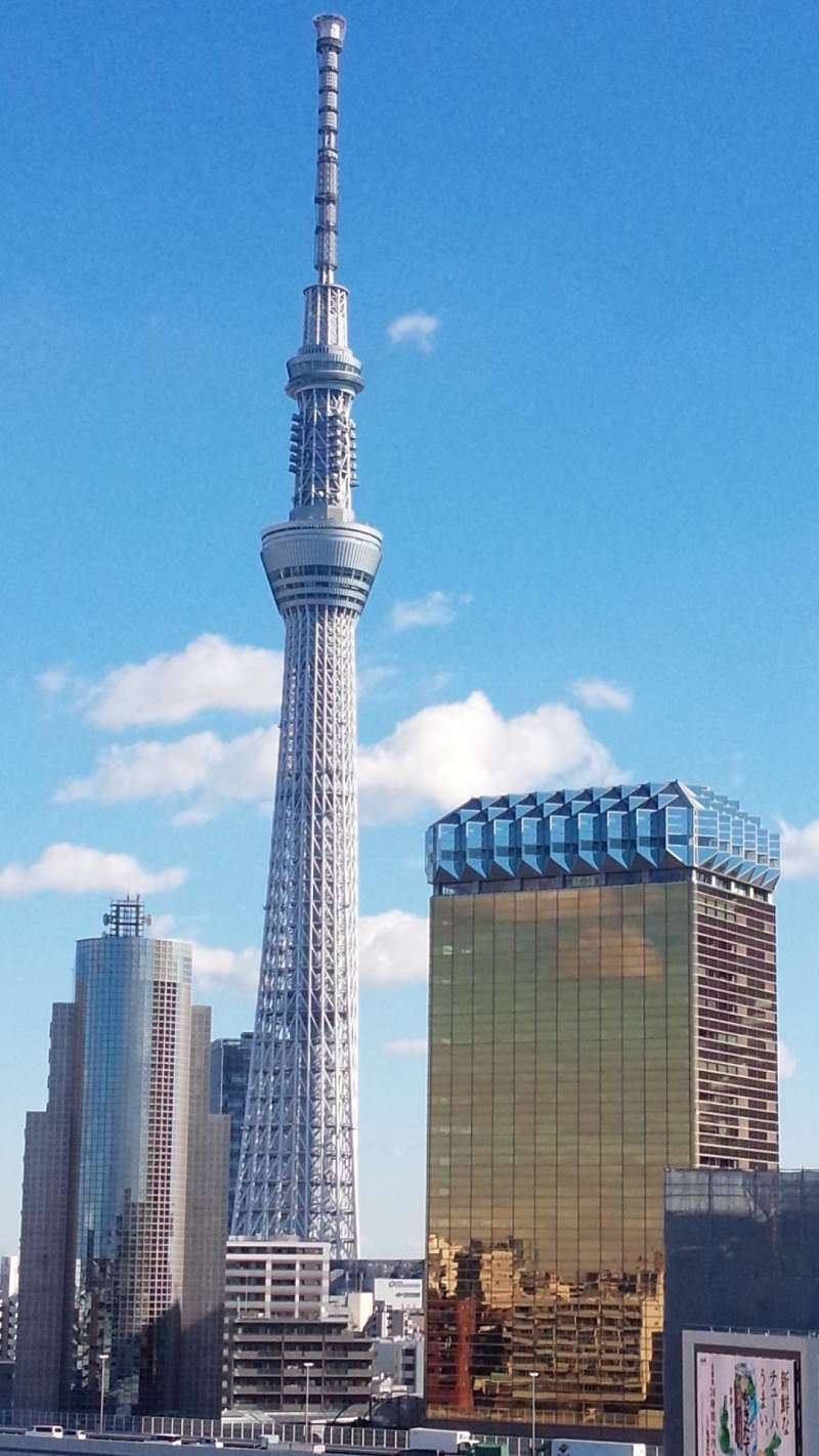 Tokyo Skytree. The most wonderful landmark tower of Tokyo attracting a lot of tourists.