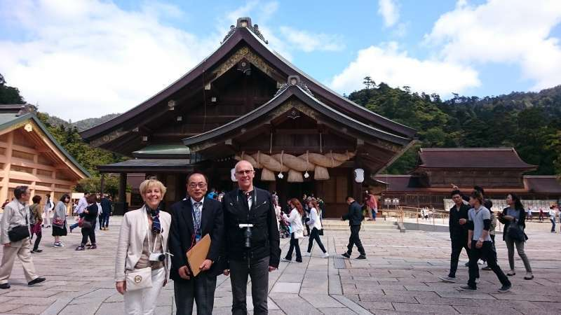 """Izumo Taisya Grand Shrine. Well-known nationwide. The deity enshrined here is """"Ookuninushi"""" who is a god of match(marriage)-making. This is an optional tour."""